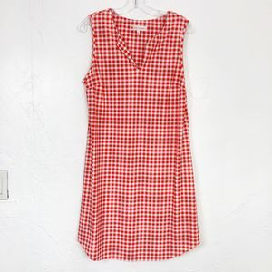 Jude Connally Orange & White Gingham Shift Dress